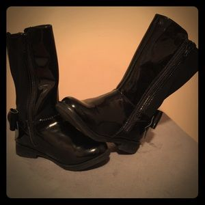 Children's Place - Tall Black Boots